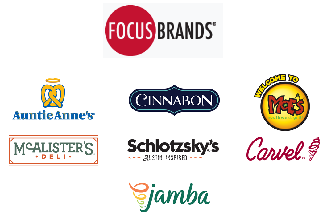 Focus Brands and its owned restaurant and snack brands
