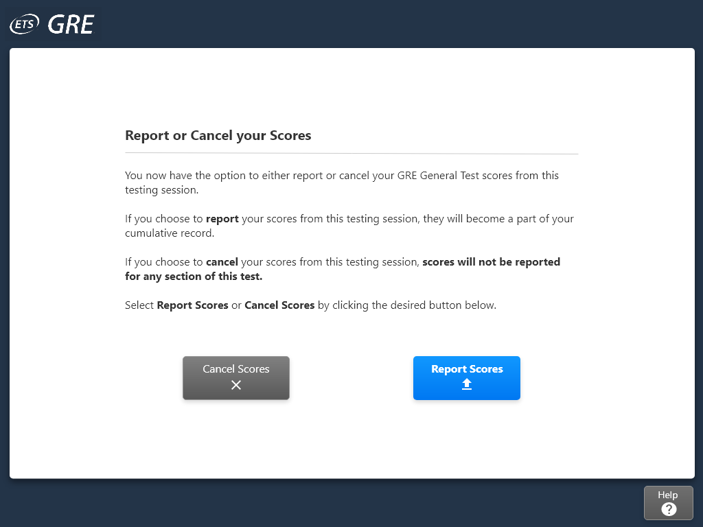 Fig. 8 Button placement in 'Report or Cancel Scores' page from the proposed interface