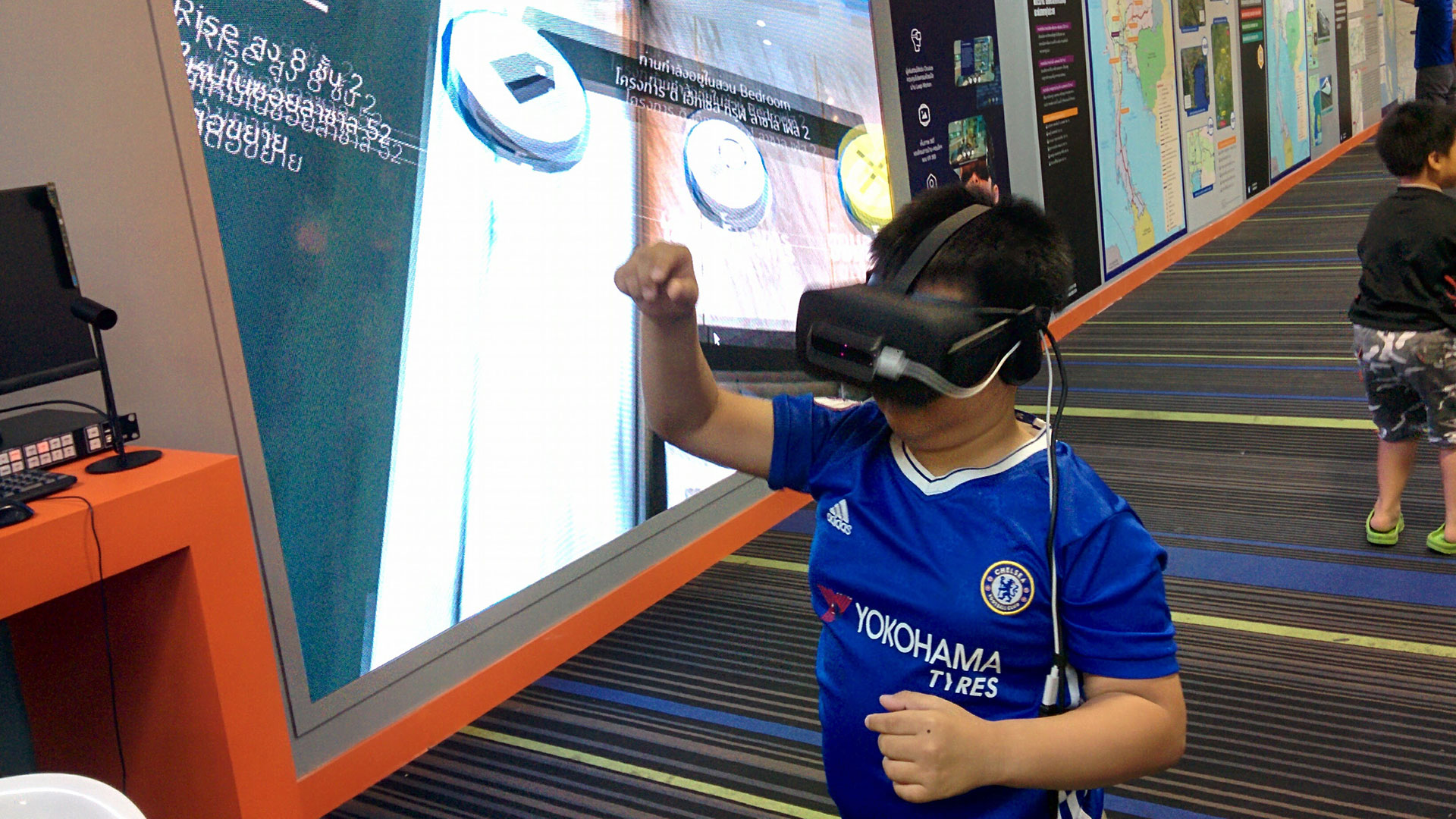 A child enjoying the VR experience
