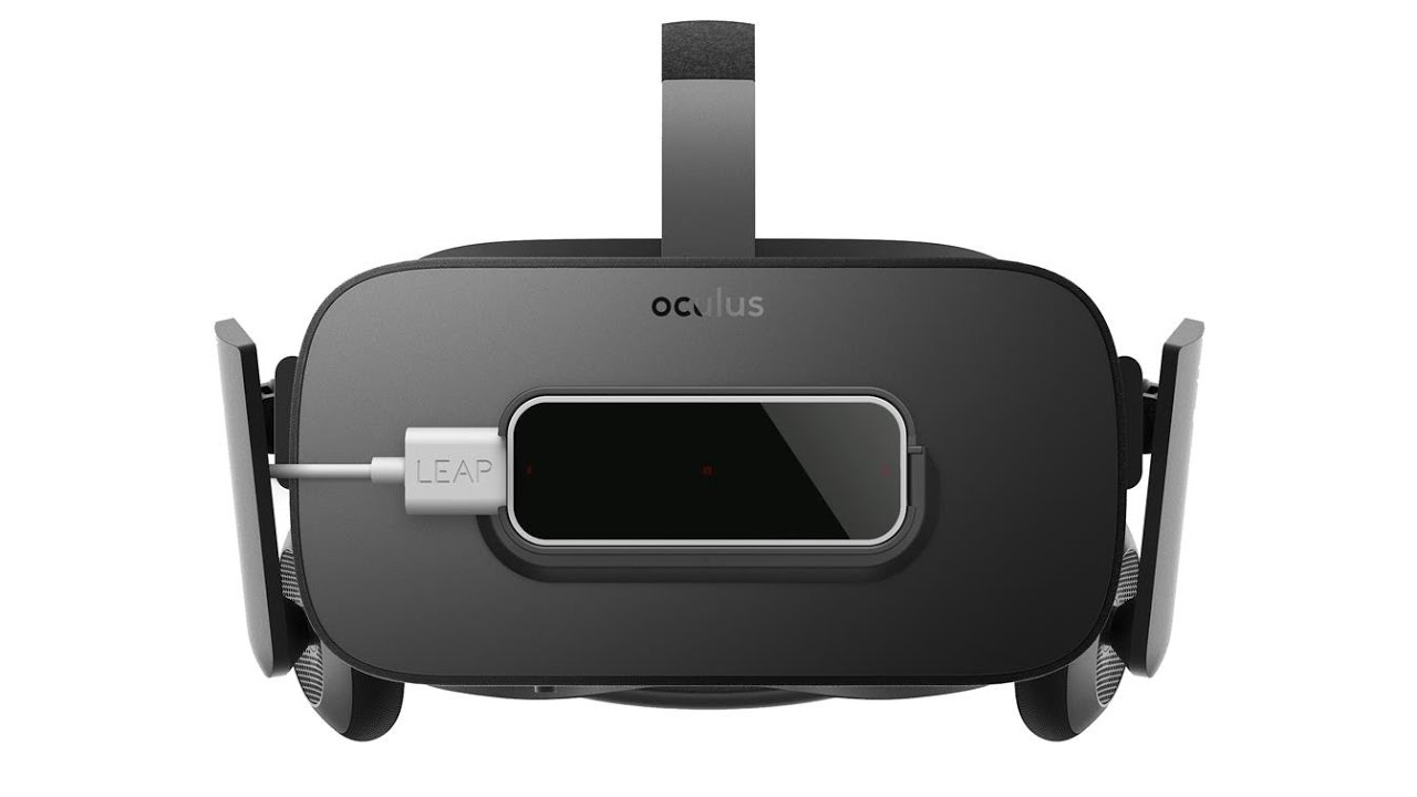 Oculus Rift CV1 with Leap Motion Controller, image courtesy of Leap Motion